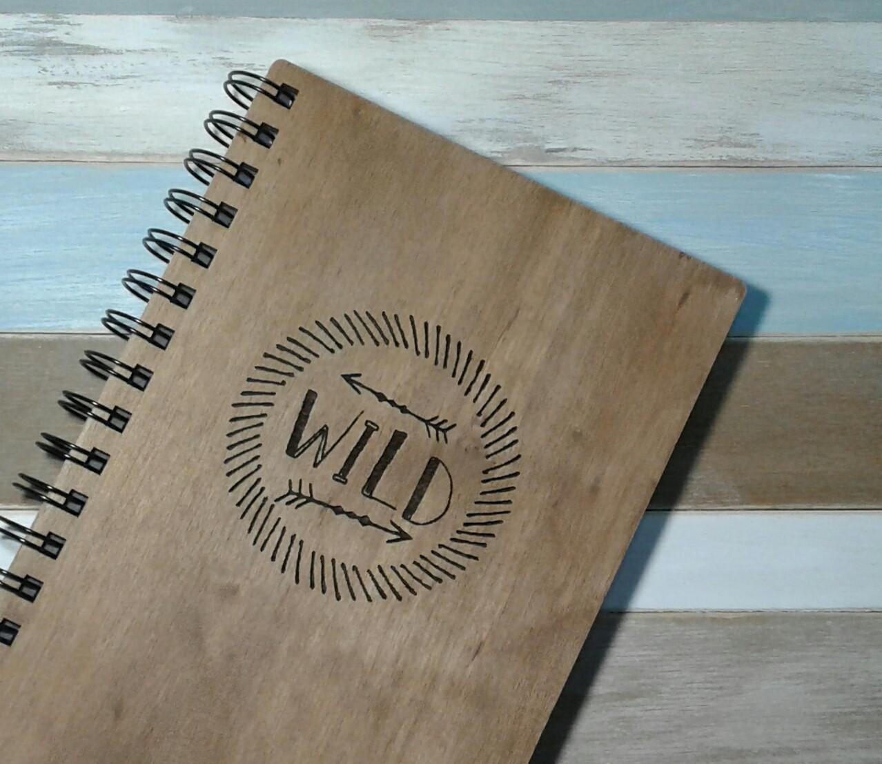 Деревянный блокнот WILD тонированный