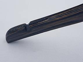 Плічка вішалки тремпеля Mainetti Mexx з антиковзною гумкою під старовину темного кольору, довжина 40 см, фото 3