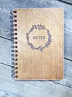 Деревянный блокнот NOTE тонированный, фото 1