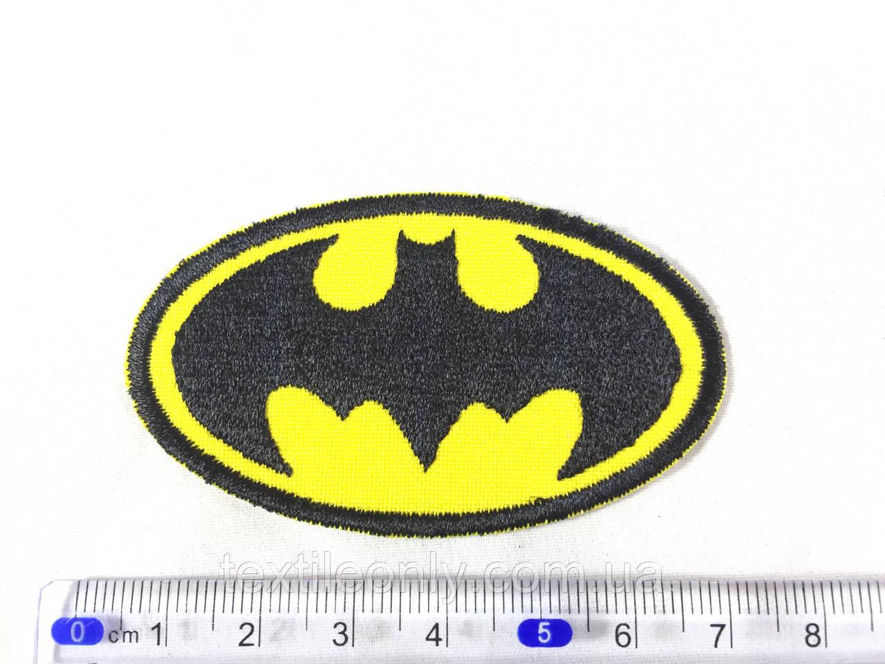 Нашивка Batman Бэтмен s 65х37 мм