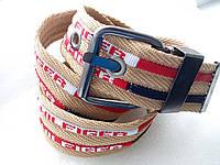 Ремень джинс текстильный T&H коричневый 45*100, фото 1