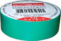 Изолента зеленая из самозатухающего ПВХ - 10 м