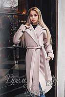 """Кашемировое пальто """"Шанель"""" на подкладке. Бежевое, 5 цветов."""