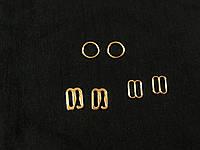 Набор для белья перетяжка , кольцо , крючок цвет золото