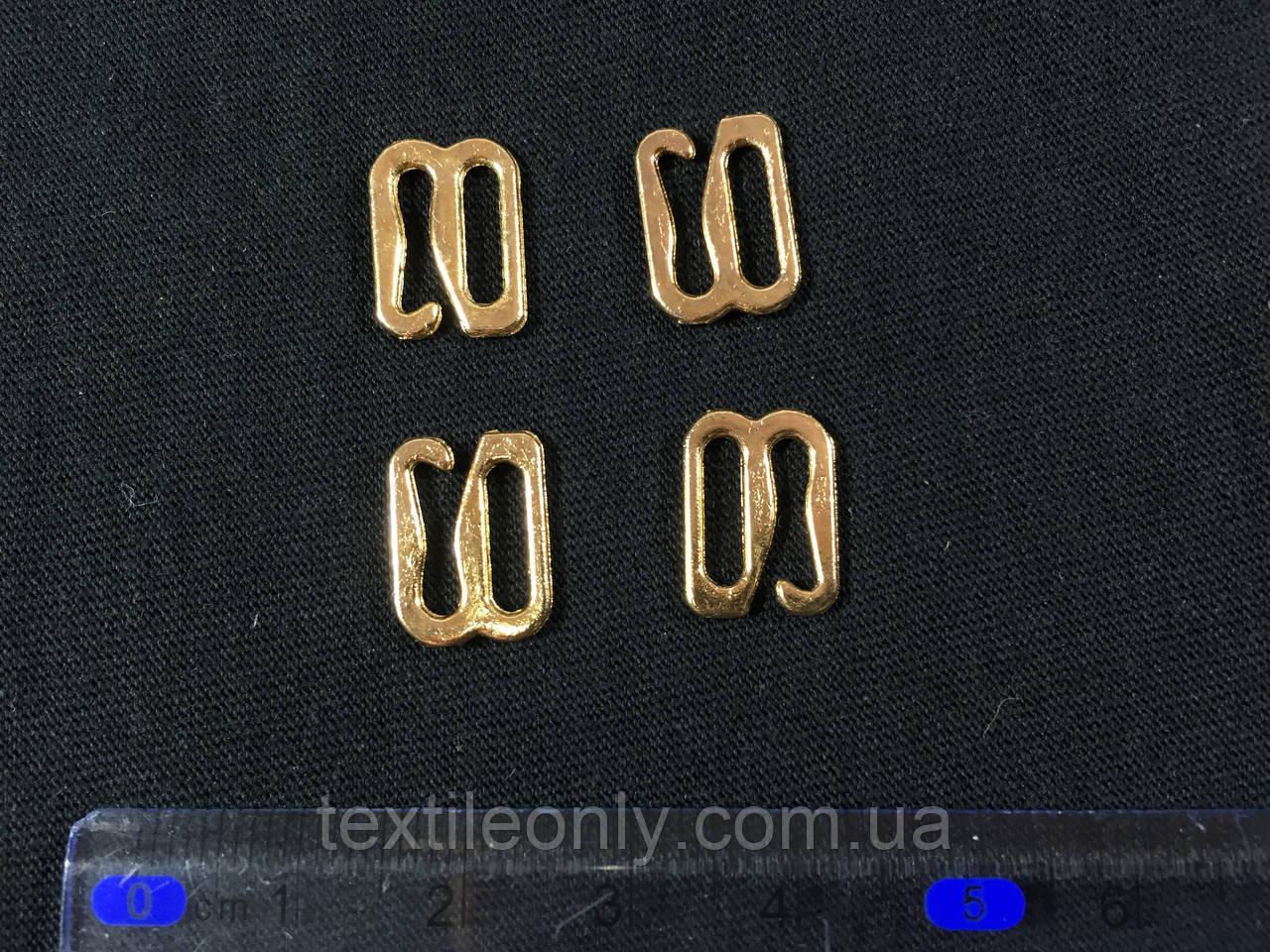Крючок на бретели 10 мм цвет золото