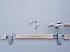 Плечики вешалки тремпеля Mainetti Mexx для брюк и юбок   под старину кремового цвета, длина 40 см