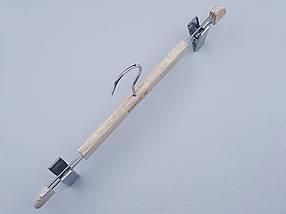 Плечики вешалки тремпеля Mainetti Mexx для брюк и юбок   под старину кремового цвета, длина 40 см, фото 2