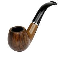 Трубка курительная ретро-стиль под дерево 15см коричневая SKU0000609