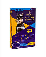 Краплі на холку від бліх і кліщів GOLDEN DEFENCE