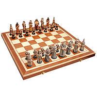 Шахматы FANTAZY Intarsia, камень, коричневые 56x28,5x7см (король-110мм) (арт. 3159)