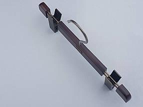Длина 27 см. Плечики вешалки тремпеля  Mainetti Mexx для брюк и юбок цвета под красное дерево, фото 2