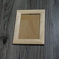Рамка деревянная закругленная шириной 35мм под покраску. Размер, см.  13*18
