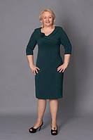 Женское платье больших размеров Бэлла 52, 54, 56, 58 зеленое оптом