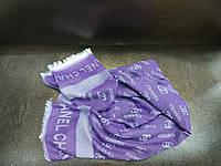 Палантин фиолетового цвета в стиле CHANEL
