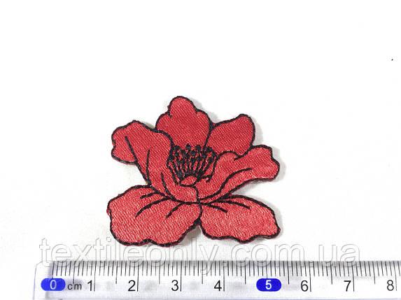 Нашивка мак (small) красный, фото 2