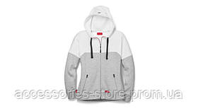 Женская толстовка Audi womens sweat jacket, Audi Sport, grey/white