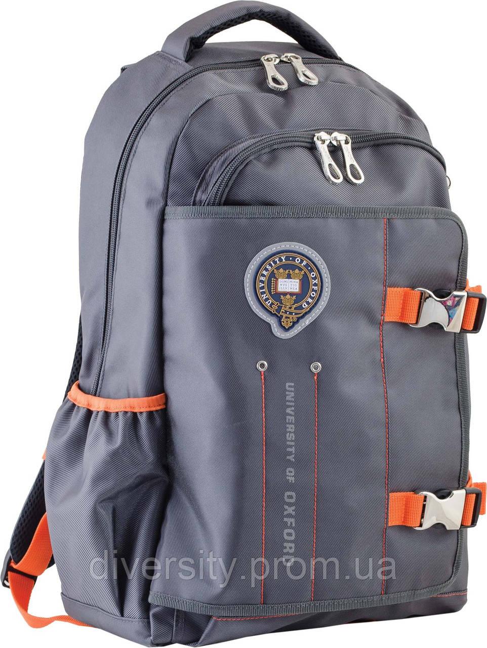 Ранец подростковый OX 302, серый, 30*47*14.5