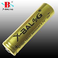 Аккумулятор Li-Ion X-Ball 18650 Gold 3.7V 8800 mAh