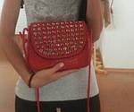 Красная сумочка с камушками, фото 5