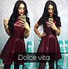 Женское стильное кожаное платье, 4 цвета, фото 4