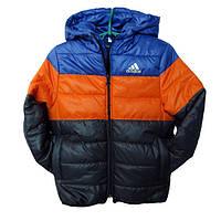 Детская демисезонная куртка на мальчика АДИДАС, трехцветная, р.3-7лет