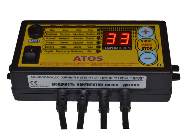 Автоматика Atos для твердотопливного котла