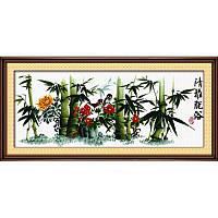 Зеленый бамбук. Набор для вышивания нитками