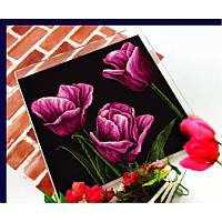 Фиолетовый тюльпан. Набор для вышивания нитками