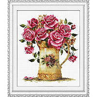 Античная ваза цветов. Набор для вышивания нитками