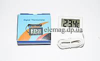 Термометр цифровой с выносным датчиком 1м белый