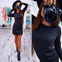 Прямое платье с кружевом, фото 3
