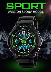 Тактические спортивные водонепроницаемые часы Skmei 0931 Зеленый