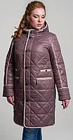 Куртка больших размеров розовая 50 весна/осень