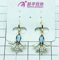 Нежные серьги из позолоченной бижутерии Xuping. 299