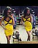 Женское желтое летнее платье-майка
