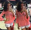 Женский летний костюм шорты и блуза