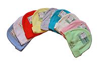 Чепчики шапочки для малышей 36 размер (розовый,  голубой, желтый, белый, красный,сиреневый,синий)