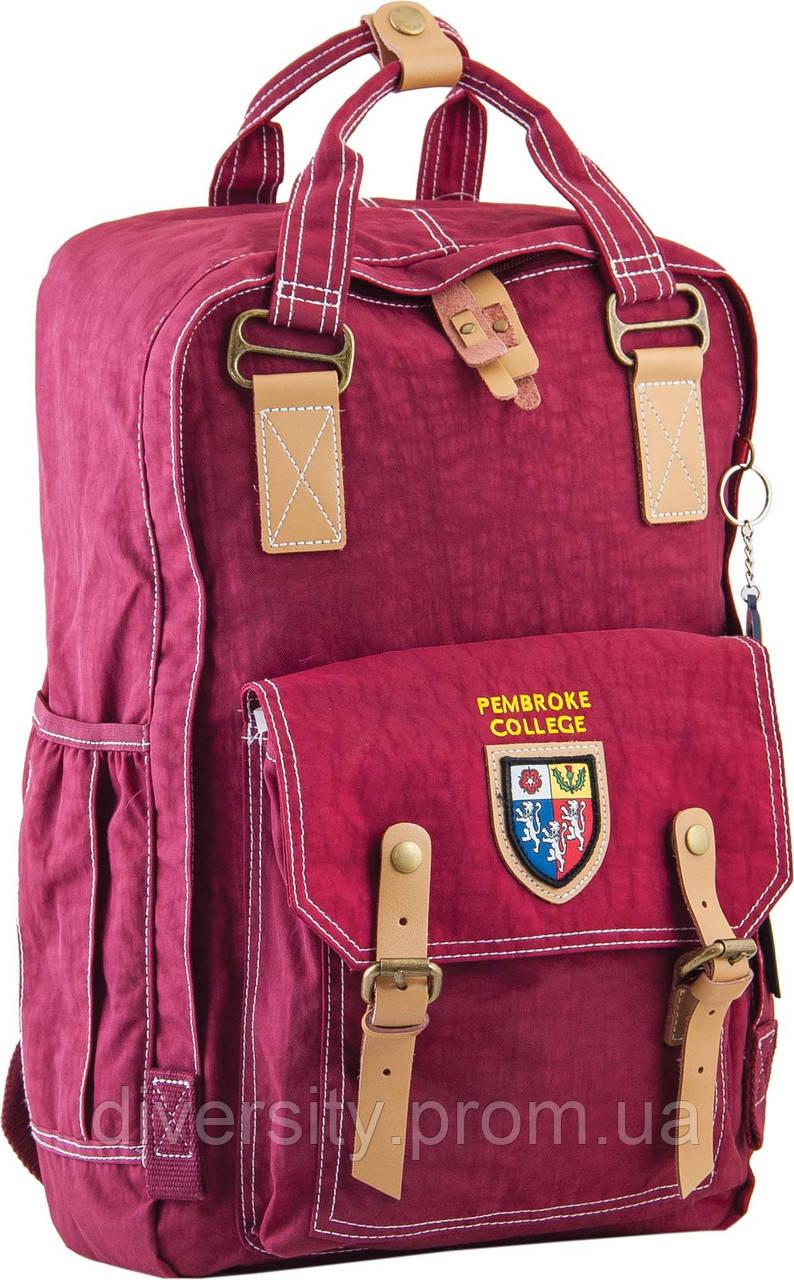 Ранец подростковый OX 195, бордовый, 27.5*42*12