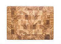 Кухонная торцевая разделочная доска 36х26х4 см из ясеня 1031
