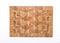 Кухонная торцевая разделочная доска 36х26х4 см из ясеня 1033