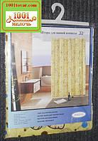 Атласная шторка для ванной комнаты с рисунком