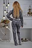 Велюровый женский спортивный костюм, размеры 42,44,46,48,50 , про-во Турция, фото 3