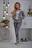 Велюровый женский спортивный костюм, размеры 42,44,46,48,50 , про-во Турция, фото 4