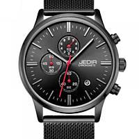Кварцевые мужские часы Jedir Style Black