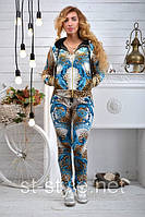 """Велюровый женский спортивный костюм """"BEZLO"""", размеры 42,44,46,48,50 , про-во Турция, фото 1"""