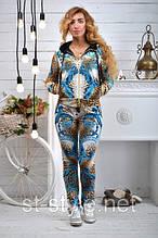 """Велюровый женский спортивный костюм """"BEZLO"""", размеры 42,44,46,48,50 , про-во Турция"""