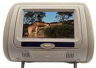 Подголовник с монитором и DVD-проигрывателем KLYDE Ultra 745 HD Beige (бежевый)