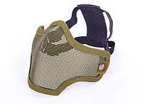 Маска защитная для пейнтбола на пол-лица из стальной сетки CS01-О олива