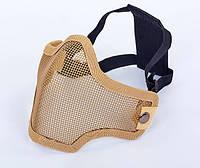 Маска защитная для пейнтбола на пол-лица из стальной сетки CS01-Н хаки