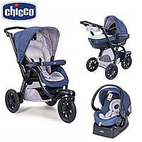 Коляска универсальная Chicco (3в1) - Trio Activ 3 Top (Blue Passion)